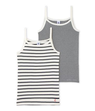 Duo de chemises à bretelles fille lot .