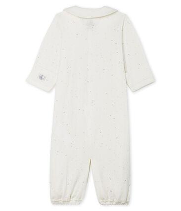 Combisac bébé en tubique blanc Marshmallow / blanc Multico Cn