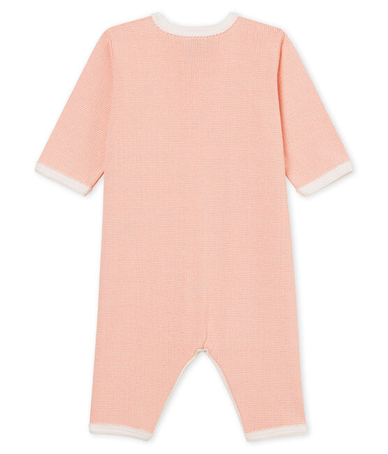 Dors bien bébé fille en côte rose Rosako / blanc Marshmallow Cn