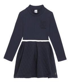 Robe col roulé enfant fille bleu Smoking