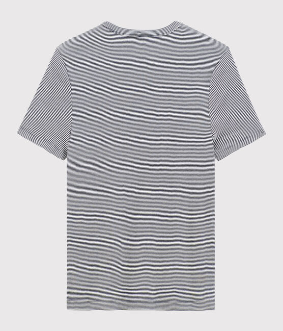 T-shirt manches courtes Homme bleu Smoking / blanc Marshmallow