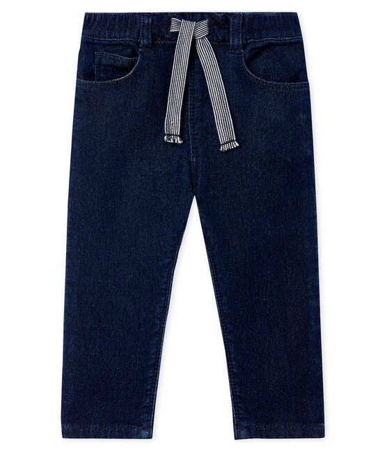 Pantalon maille effet denim bébé mixte JEAN
