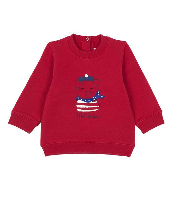 Sweatshirt bébé mixte rouge Terkuit
