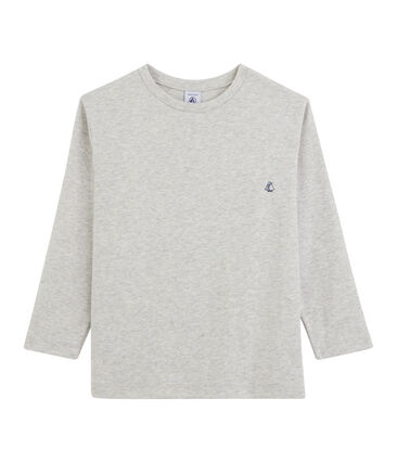 Tee shirt manches longues enfant garçon gris Beluga
