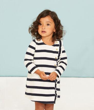 Robe manches longues à rayure marinière bébé fille