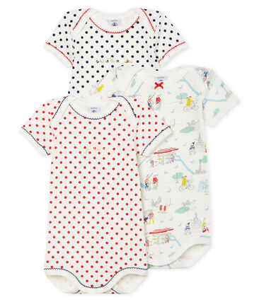 Trio de bodies manches courtes bébé fille lot .