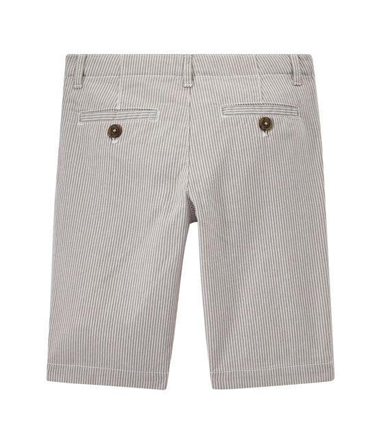 Bermuda garçon rayé gris Minerai / blanc Lait
