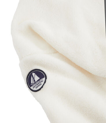 Sweatshirt polaire moutonné enfant garçon blanc Marshmallow