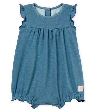 Combicourt bébé fille en coton et lin
