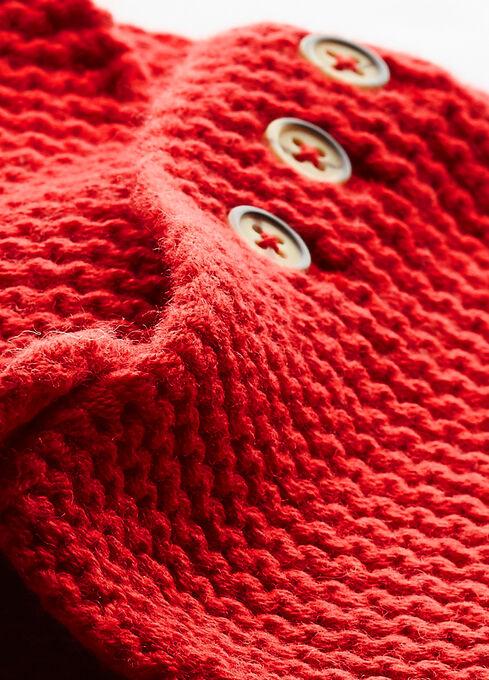 Cardigan bébé mixte laine et coton rouge Froufrou