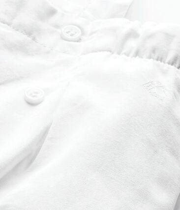 Salopette fille blanc Ecume