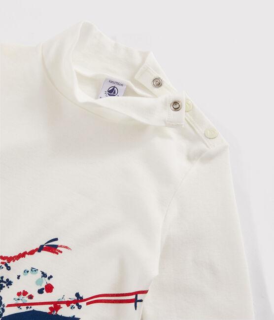 Sous pull sérigraphié enfant fille blanc Marshmallow