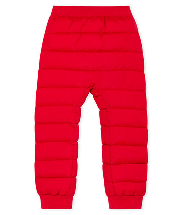 Pantalon doudoune enfant mixte rouge Terkuit