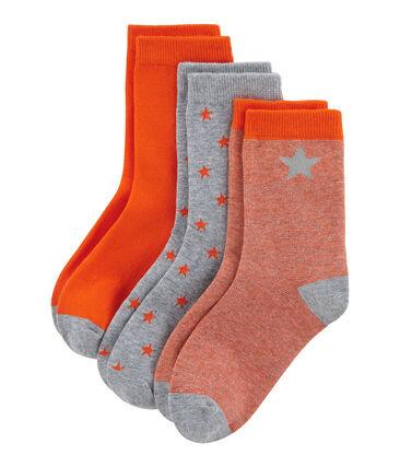 Lot de 3 paires de chaussettes enfant garçon lot .