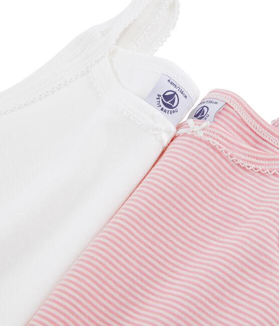 Lot de 2 chemises à bretelles petite fille lot .