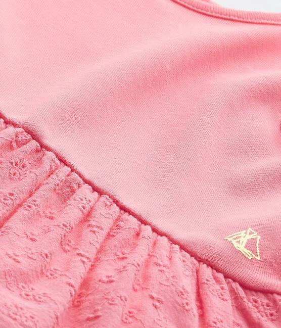 Robe bébé fille manches papillons rose Petal