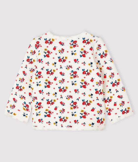 Cardigan bébé fille en tubique blanc Marshmallow / blanc Multico