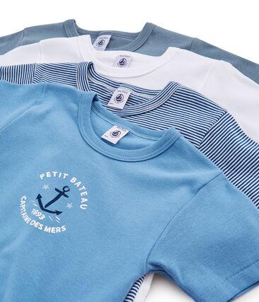 Pochon surprise de 4 Tee-shirts manches courtes garçon lot .