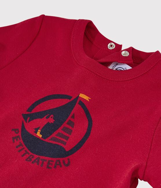 Tee-shirt manches courtes bébé fille rouge Terkuit