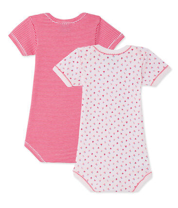 Lot de 2 bodies bébé fille