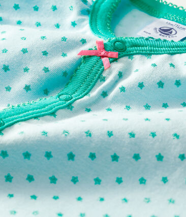 Combicourt bébé fille en côte vert Amandier / vert Esperanza Brillant