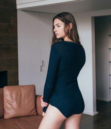 Bodies femme bleu Smoking