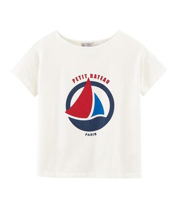 Tee-shirt manches courtes femme blanc Marshmallow