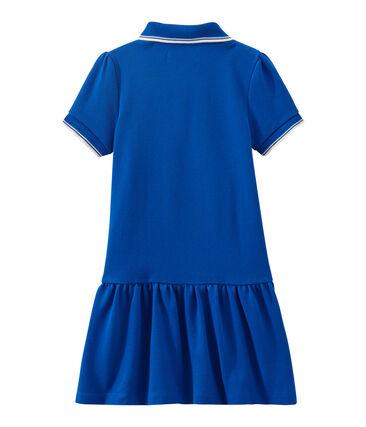 Robe enfant fille à manches courtes bleu Perse