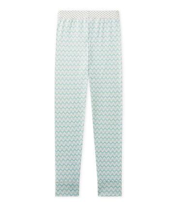 Bas de pyjama fille Mix & Match blanc Lait / vert Vert