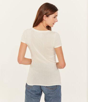 Tee shirt manches courtes col v femme