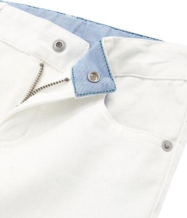 Pantalon enfant garcon blanc Marshmallow