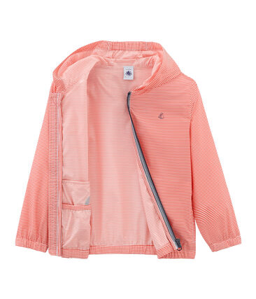Coupe vent enfant mixte rose Petal / bleu Crystal