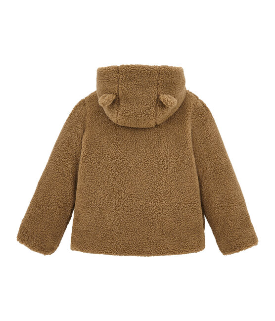 Manteau enfant fille en sherpa marron Brindille
