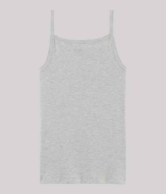 Chemise à bretelles iconique en coton Femme gris Beluga
