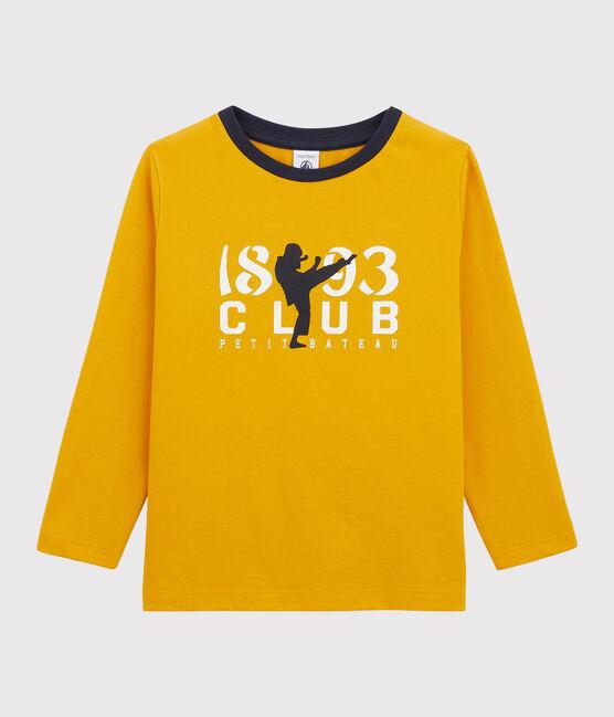 Tee-shirt sérigraphié enfant garçon jaune Boudor