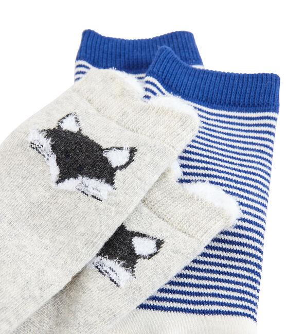 Lot de 2 paires de chaussettes bébé mixte gris Beluga