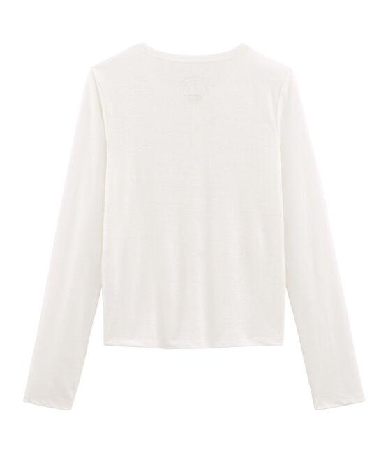 Cardigan femme en lin blanc Marshmallow