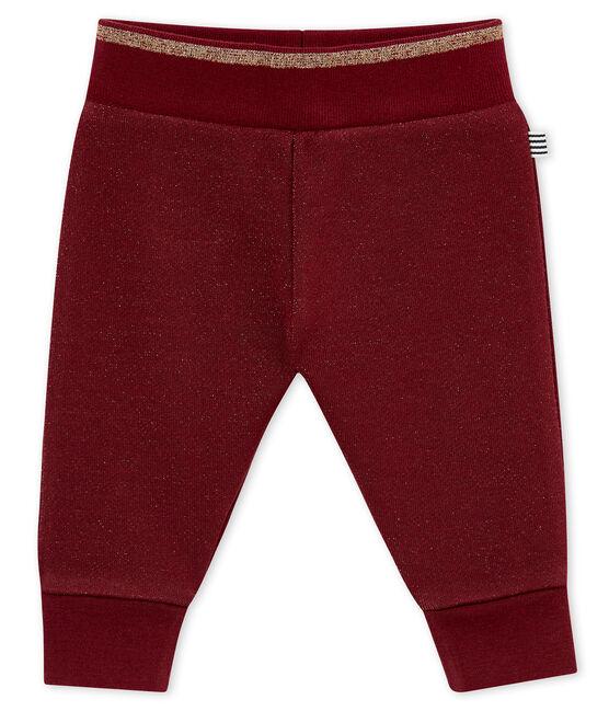 Pantalon molleton brillant bébé fille rouge Ogre / jaune Dore