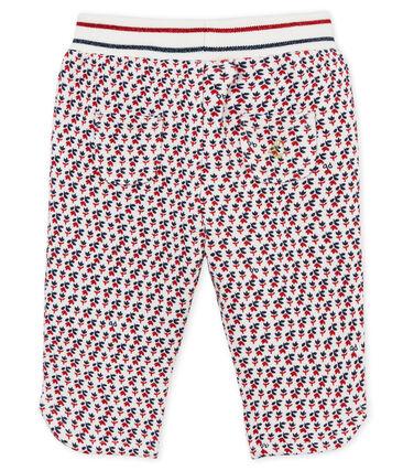 Pantalon bébé fille en molleton imprimé