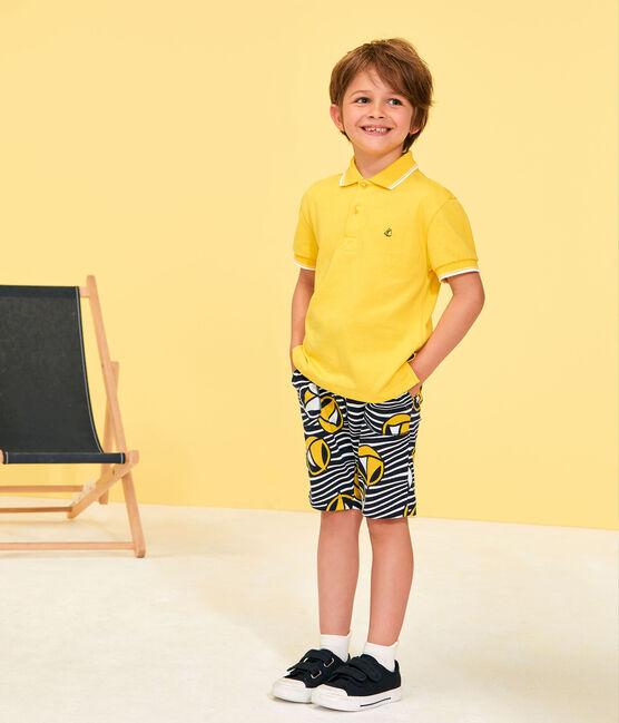 Bermuda enfant garçon blanc Marshmallow / blanc Multico