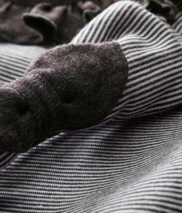 Robe rayée et bandeau bébé fille
