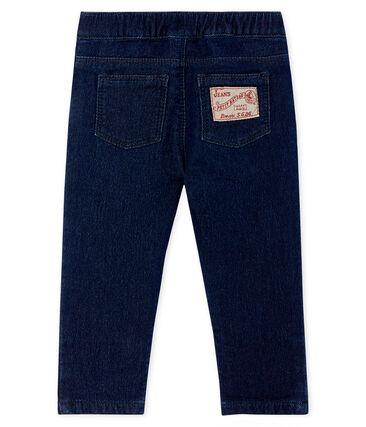 Pantalon maille effet denim bébé mixte bleu Jean