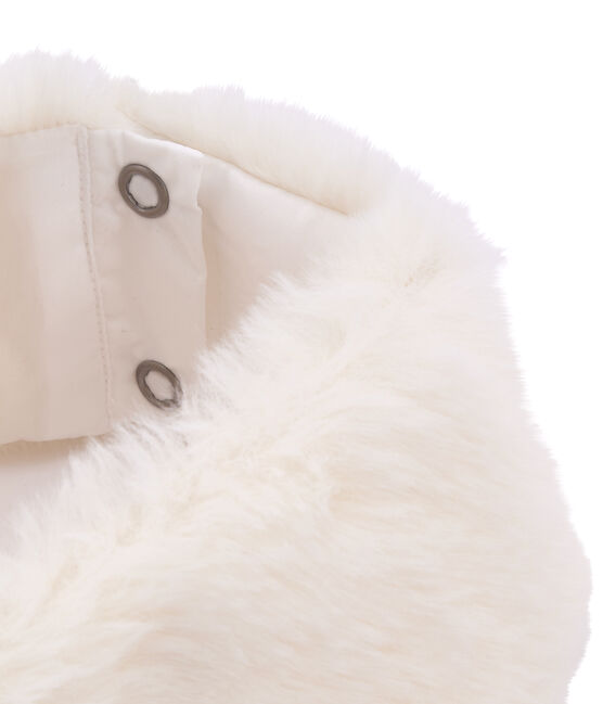 Lot col et manchette enfant fille blanc Marshmallow