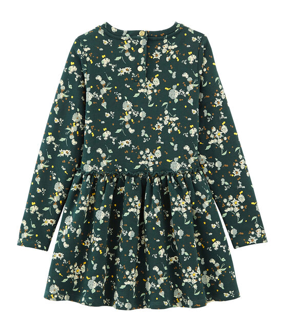 Robe en molleton vert Sherwood / blanc Multico