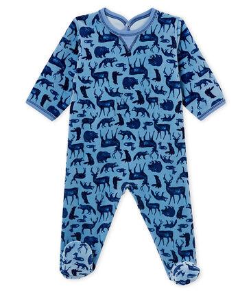 Dors bien bébé garçon bleu Alaska / blanc Multico