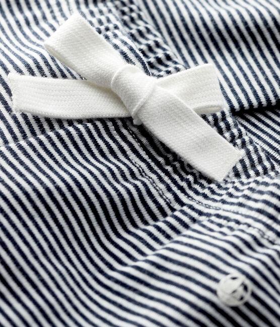 Pantalon milleraies bébé fille bleu Smoking / blanc Marshmallow