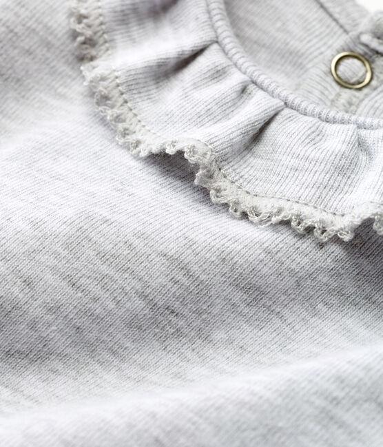 Body manches courtes avec collerette bébé fille gris Poussiere Chine