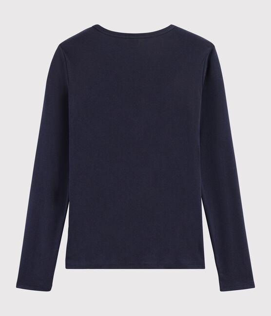 T-shirt iconique col V Femme bleu Smoking