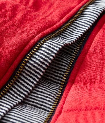 Manteau en tubique matelassé bébé fille rouge Terkuit