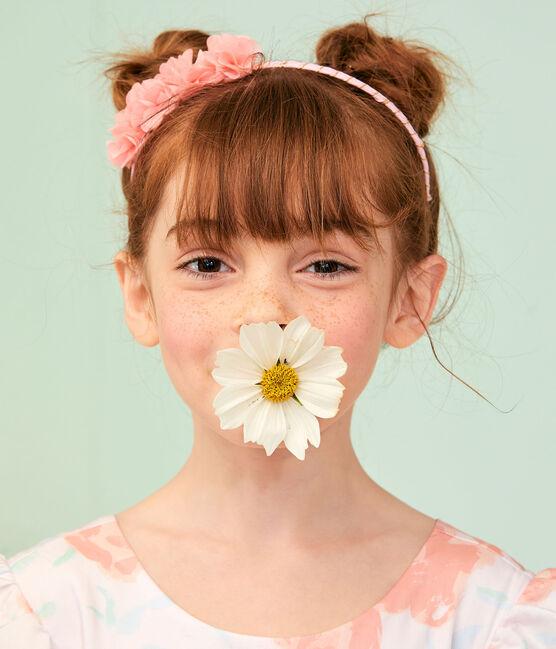 Robe de cérémonie enfant fille rose Vienne / blanc Multico